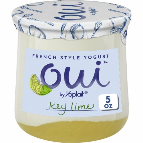 Oui by Yoplait Key Lime French Style Yogurt Perspective: front
