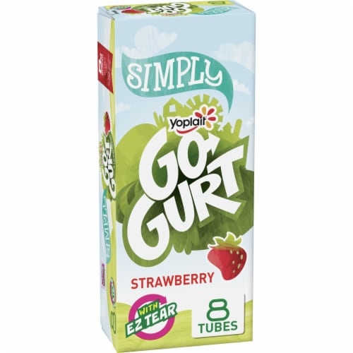 Go-Gurt Simply Strawberry Low Fat Yogurt Tubes Perspective: front
