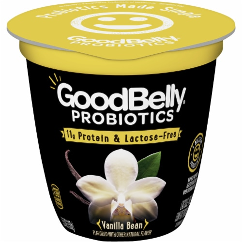 GoodBelly Probiotics Lactose-Free Vanilla Bean Yogurt Perspective: front