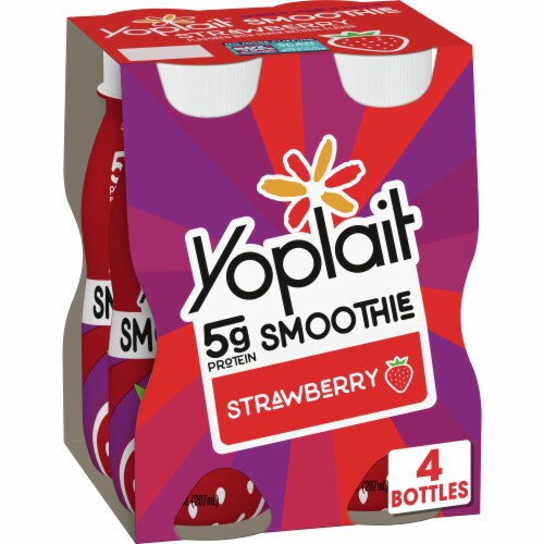 Yoplait Strawberry Flavored Smoothie Perspective: front