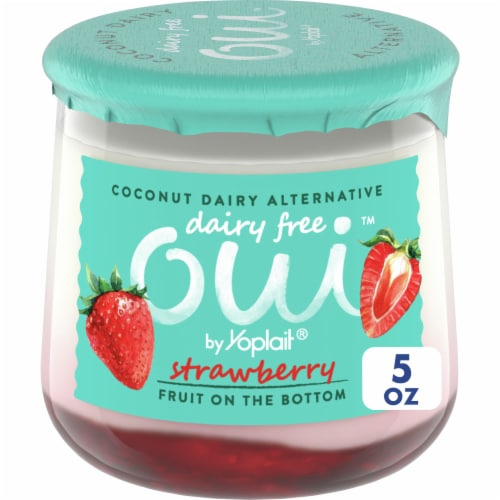 Oui by Yoplait Strawberry Dairy Free Coconut Dairy Alternative Perspective: front