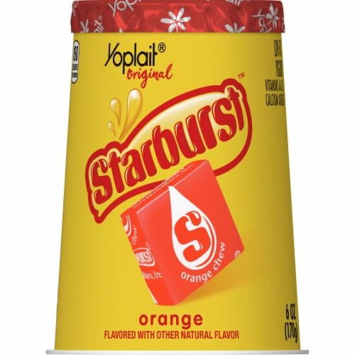 Yoplait Gluten Free Original Starburst Orange Flavored Low Fat Yogurt Perspective: front