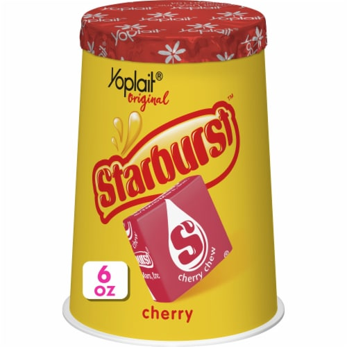 Yoplait Original Starburst Cherry Flavored Low Fat Yogurt Perspective: front