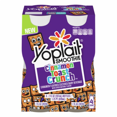 Yoplait Cinnamon Toast Crunch Smoothies 4 Count Perspective: front