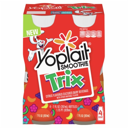 Yoplait Trix Smoothies 4 Count Perspective: front