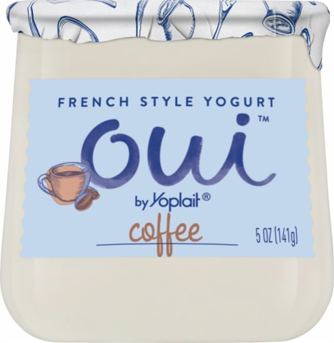 Oui by Yoplait Coffee French Style Yogurt Perspective: front