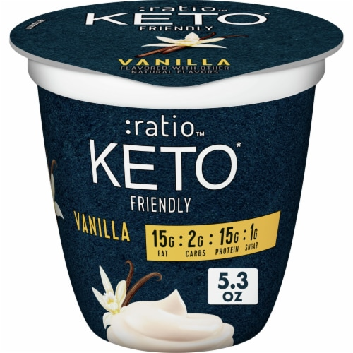 Ratio Keto Friendly Vanilla Dairy Snack Perspective: front