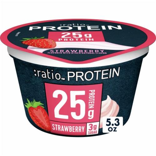 Ratio Protein Strawberry Yogurt Perspective: front