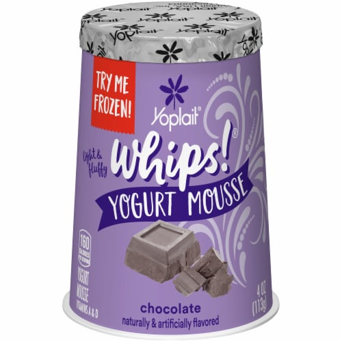 Yoplait Whips Chocolate Yogurt Mousse Perspective: front