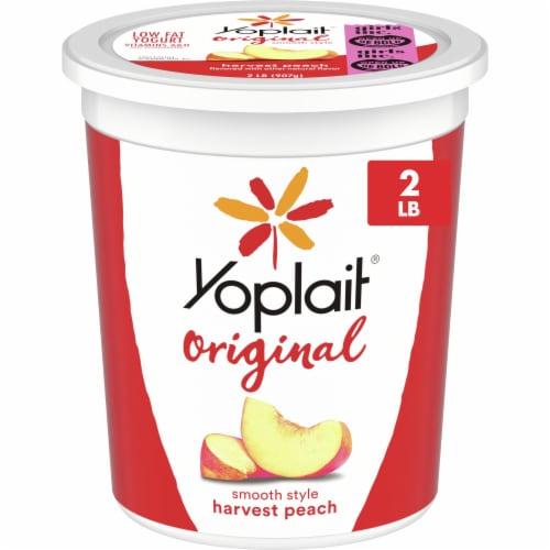 Yoplait Original Harvest Peach Low Fat Yogurt Perspective: front
