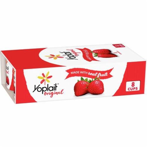 Yoplait Original Strawberry Gluten-Free Low Fat Yogurt Perspective: front