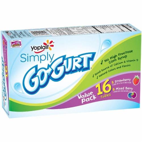 Yoplait Go-Gurt Strawberry and Mixed Berry Yogurt