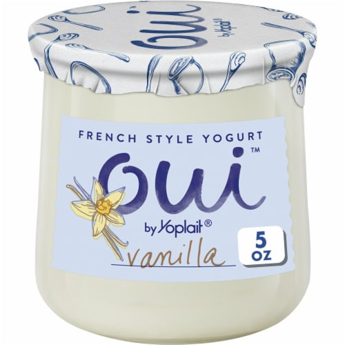 Oui by Yoplait Vanilla French Style Yogurt Perspective: front