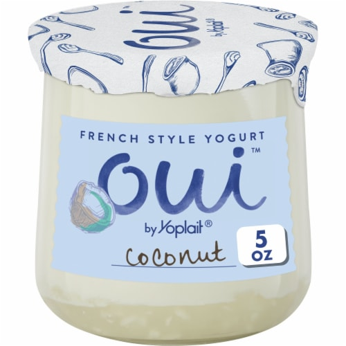 Oui by Yoplait Coconut French Style Yogurt Perspective: front
