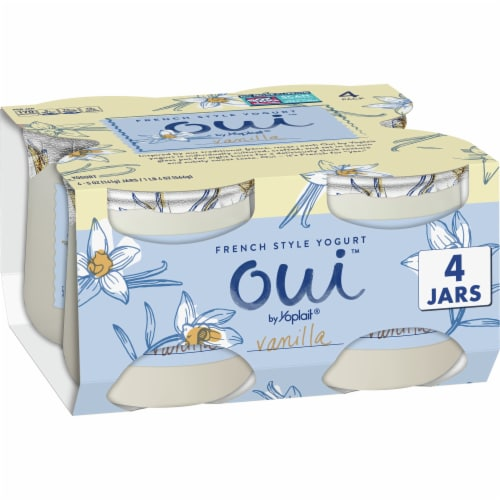 Oui by Yoplait Gluten Free Vanilla French Style Yogurt 4 Count Perspective: front