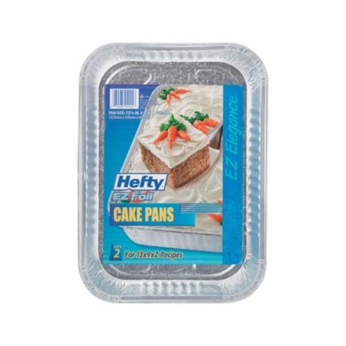 EZ Foil Z94944 Foil Rectangular Cake Pan  Aluminum - 13 x 9 x 2 in. - pack of 12 Perspective: front