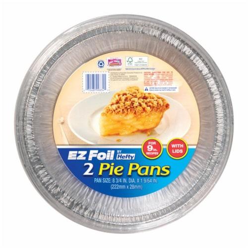 Ez Foil 6798599 9 in. EZ Foil Pie Pan, Silver - Pack of 9 Perspective: front