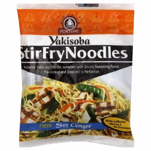 Fortune Yakisoba Soy Ginger Noodles Perspective: front