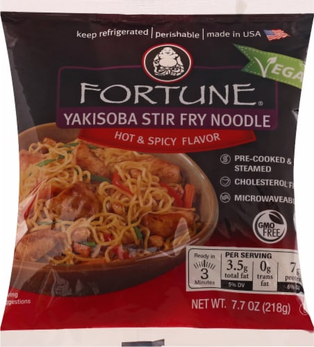 Fortune Yakisoba Stir Fry Noodles Hot and Spicy Perspective: front