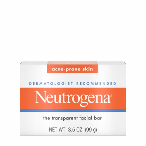 Neutrogena Facial Cleansing Acne Bar Soap Perspective: front