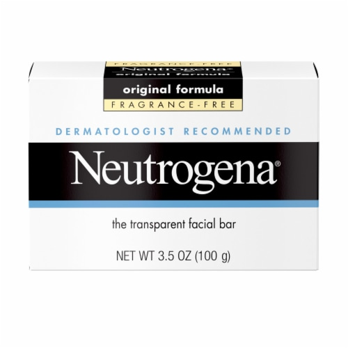 Neutrogena Original Formula Fragrance-Free Transparent Facial Bar Perspective: front