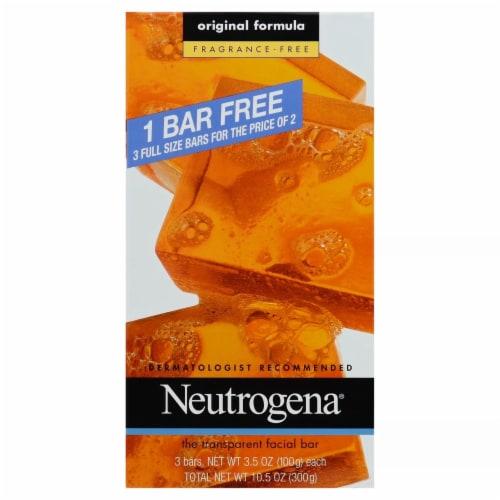 Neutrogena Original Unscented Facial Bar Perspective: front