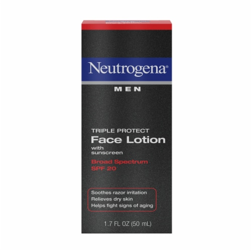 Neutrogena Men Triple Protect Face Lotion SPF 20 Perspective: front
