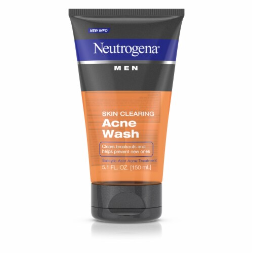 Neutrogena Men Skin Clearing Acne Facial Wash Perspective: front