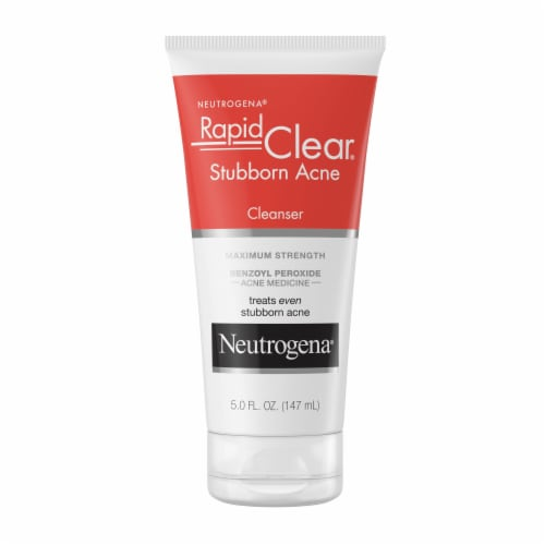 Neutrogena Rapid Clear Stubborn Acne Cream Cleanser Perspective: front