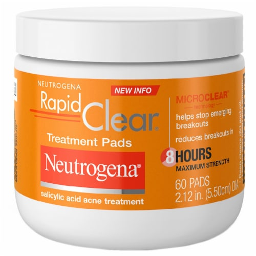 Neutrogena Rapid Clear Treatment Pads Perspective: front