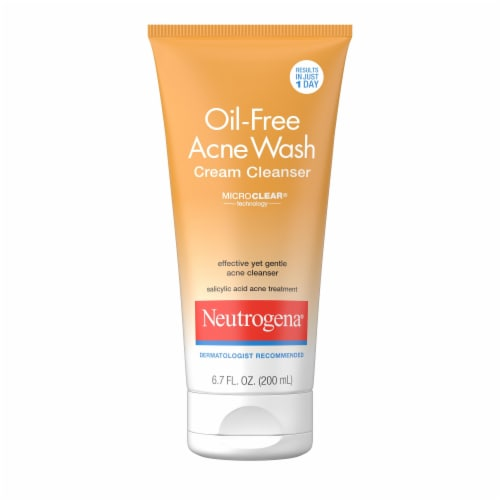 Neutrogena Oil-Free Acne Wash Cream Cleanser Perspective: front