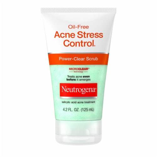 Neutrogena Oil-Free Acne Stress Control Power-Clear Scrub Perspective: front