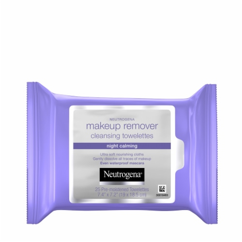 Neutrogena Night Calming Makeup Remover Cleansing Towelettes Perspective: front