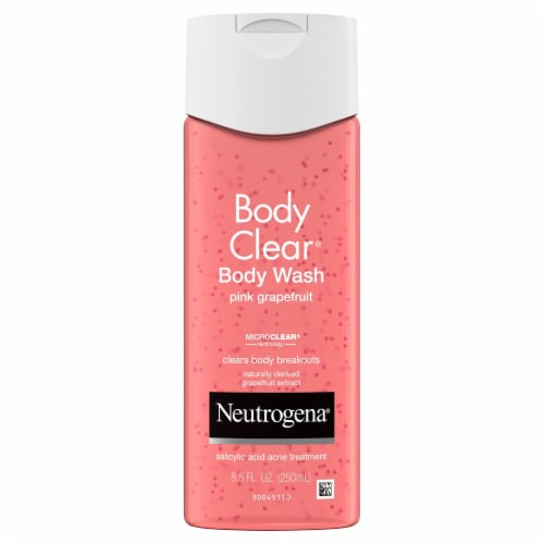 Neutrogena Body Clear Pink Grapefruit Body Wash Perspective: front