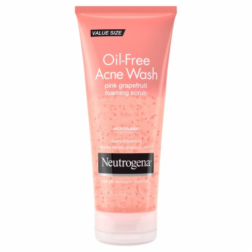 Neutrogena Oil-Free Pink-Grapefruit Acne Wash Perspective: front