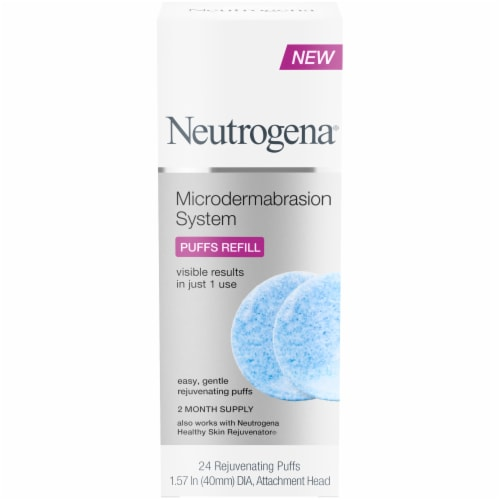 Neutrogena Microdermabrasion System Puff Refills Perspective: front