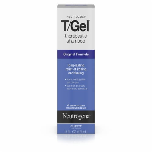 T/Gel Original Formula Therapeutic Shampoo Perspective: front