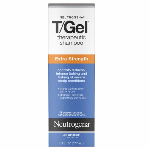 Neutrogena T/Gel Extra Strength Therapeutic Shampoo Perspective: front
