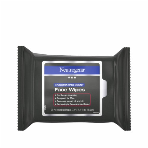 Neutrogena Invigorating Scent Face Wipe Perspective: front