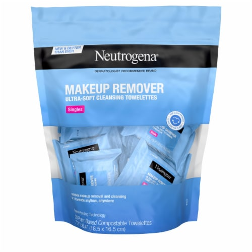 Neutrogena Singles Makeup Remover Cleansing Towelettes 20 Count Perspective: front