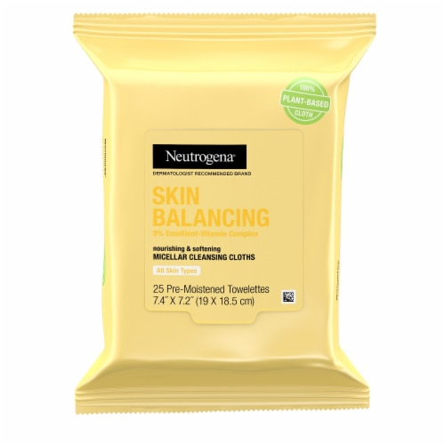 Neutrogena Skin Balancing Micellar Cleansing Cloths Perspective: front