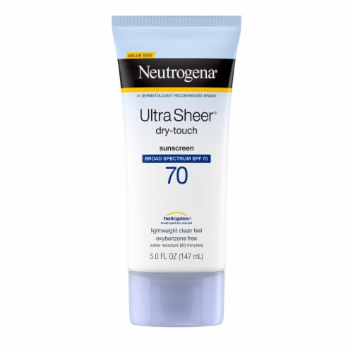 Neutrogena Ultra Sheer Dry Touch Sunscreen Lotion SPF 70 Perspective: front