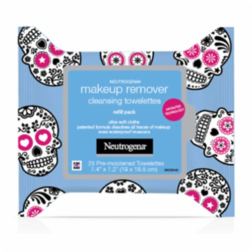 Neutrogena Makeup Remover Cleansing Towelettes Refill Pack Perspective: front