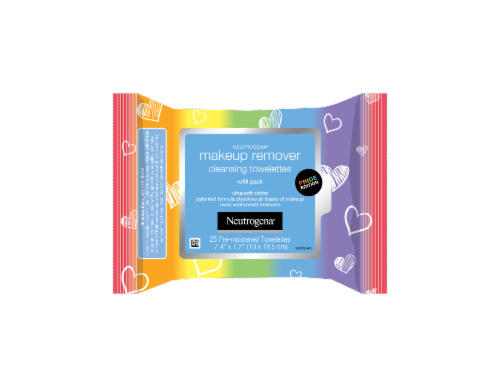 Neutrogena Pride Edition Makeup Remover Cleansing Towelettes Perspective: front