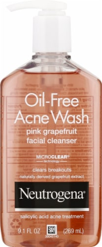 Neutrogena Pink Grapefruit Oil-Free Acne Wash Perspective: front