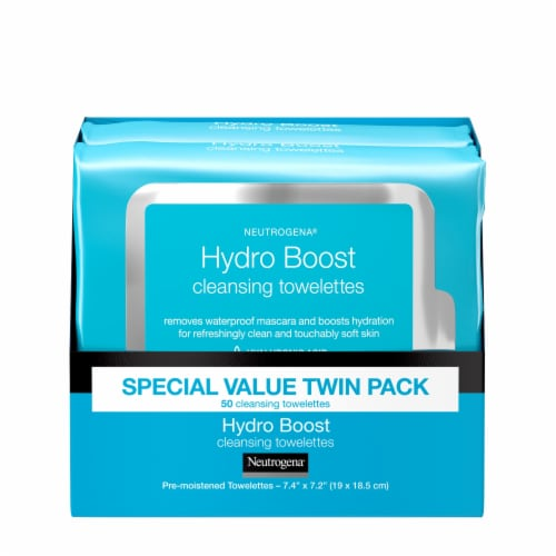 Neutrogena Hydro Boost Cleansing Towelettes Perspective: front