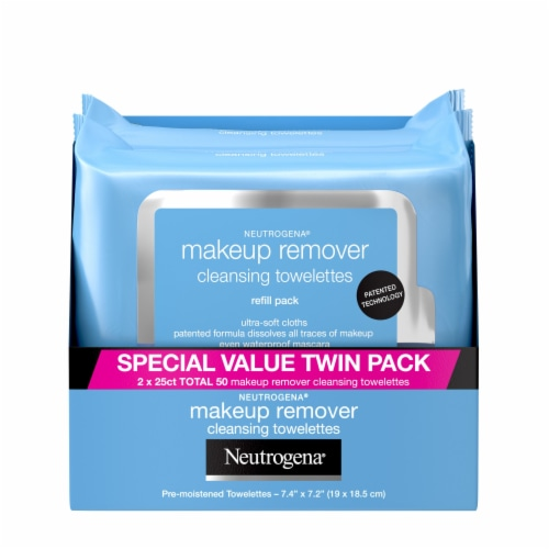 Neutrogena Makeup Remover Cleansing Towelettes Twin Pack Perspective: front