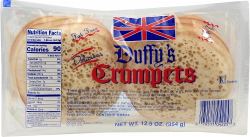 Duffy's Crumpets Perspective: front