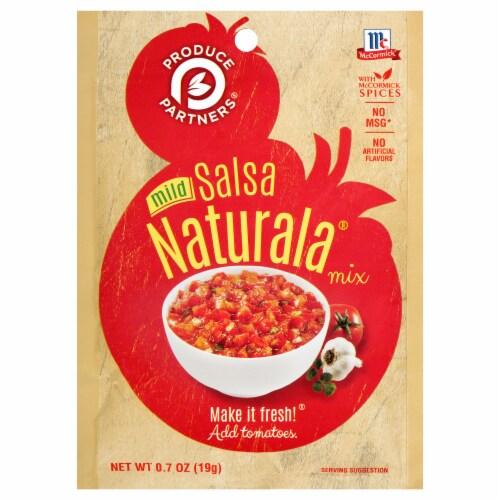 McCormick Produce Partners Mild Salsa Naturala Seasoning Mix Perspective: front