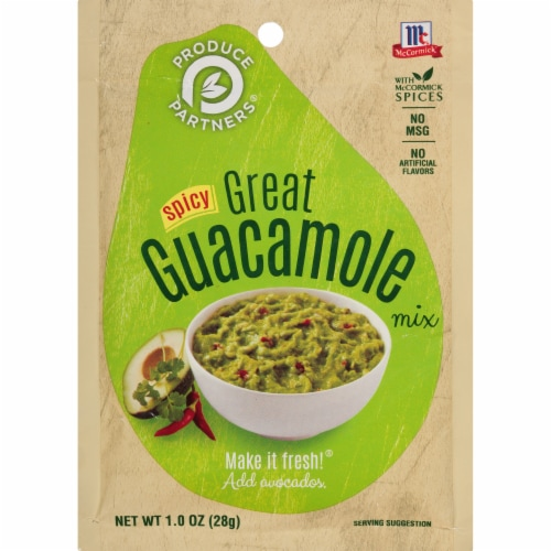 McCormick Produce Partners Spicy Great Guacamole Seasoning Mix Perspective: front